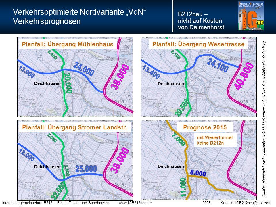 Der Vorschlag der Interessengemeinschaft: Die Verkehrsoptimierte Nordvariante VoN Sie stellt eine Planungsalternative mit einer ganzen Reihe von Problemlösungen dar, bei der die Vorteile in ihrer Wirkung deutlich überwiegen.