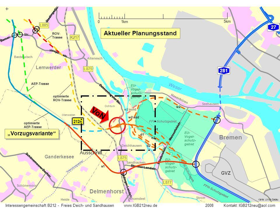 Deich Ochtum Delmenhorst Deichhausen Lemwerder optimierte AEP-Trasse EU- Vogel- schutzgebiet Delmenhorster Str.