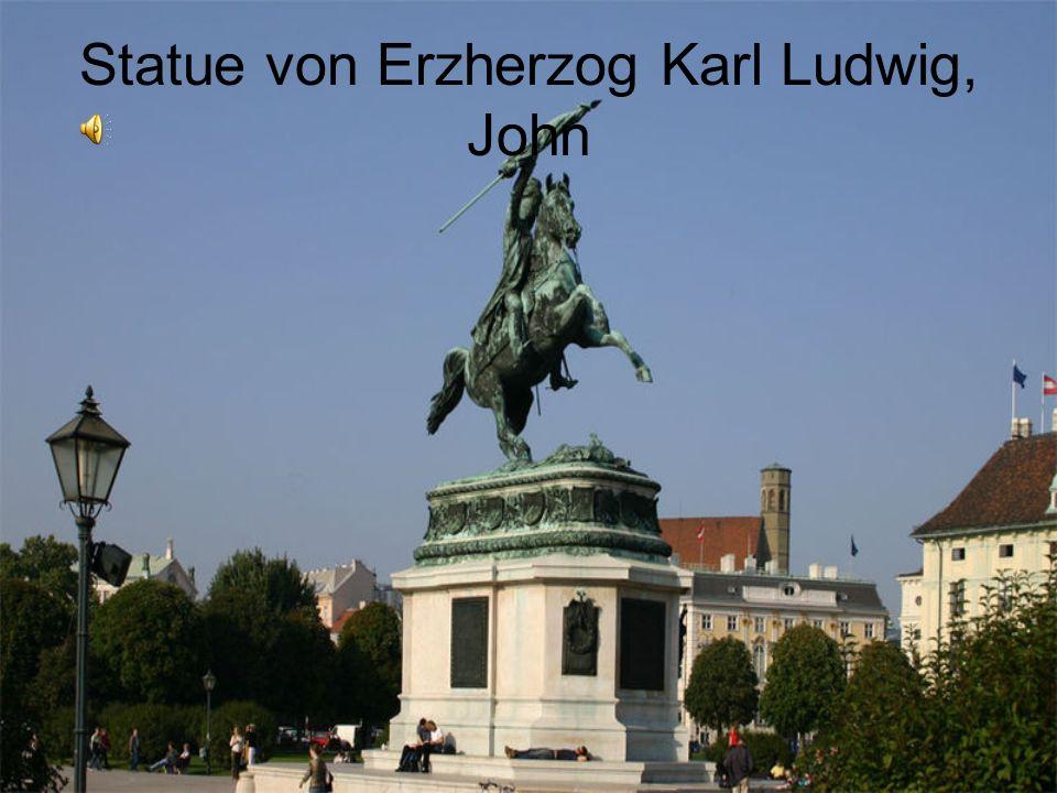 Statue von Erzherzog Karl Ludwig, John