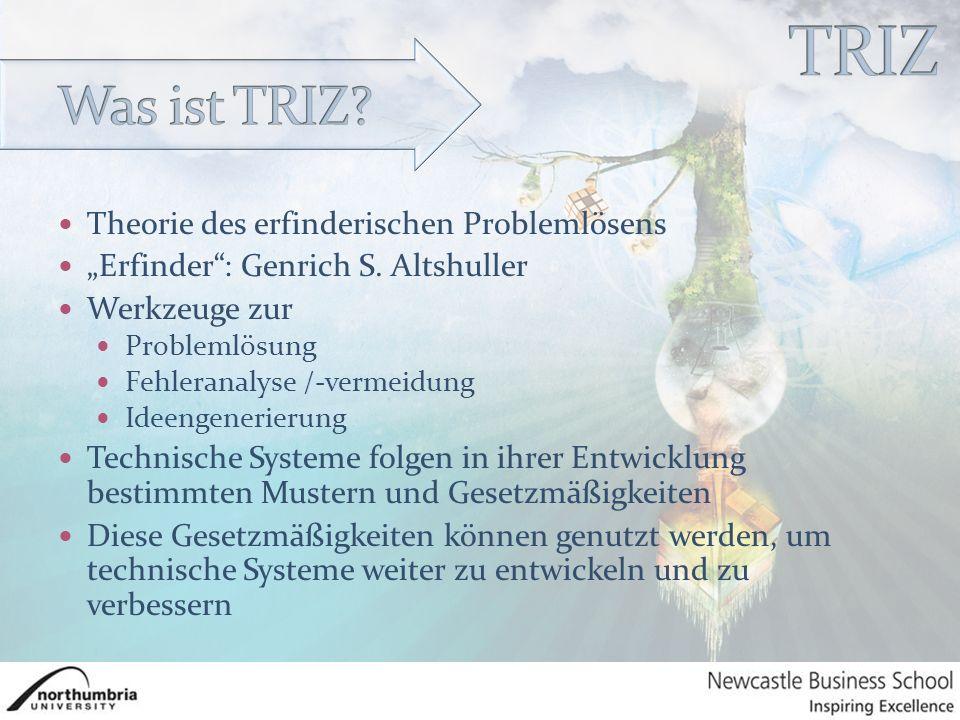 """Theorie des erfinderischen Problemlösens """"Erfinder : Genrich S."""