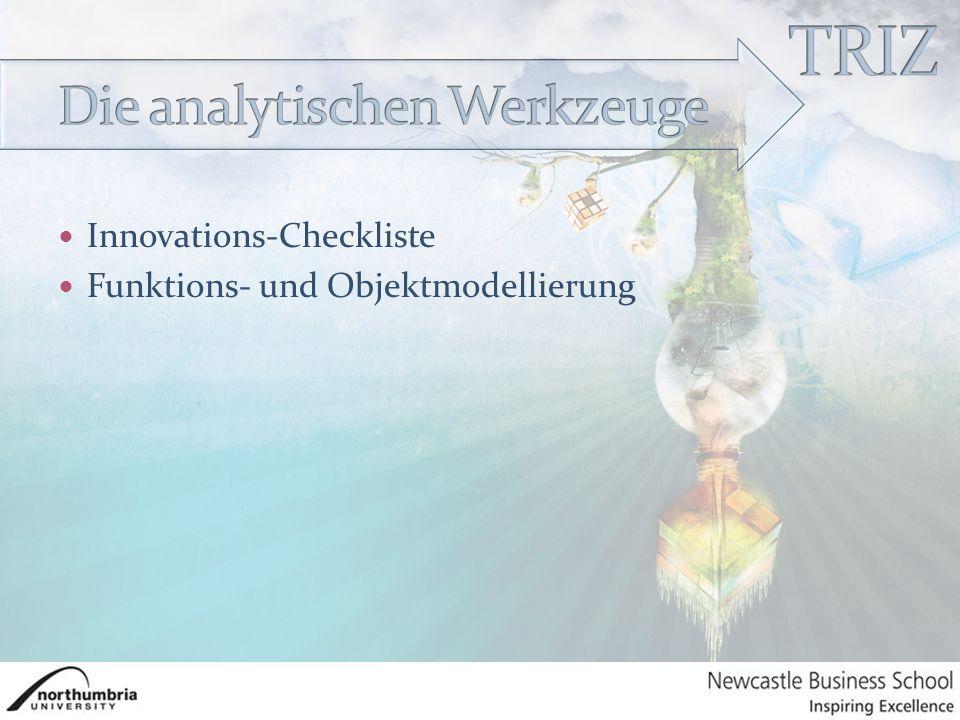 Innovations-Checkliste Funktions- und Objektmodellierung