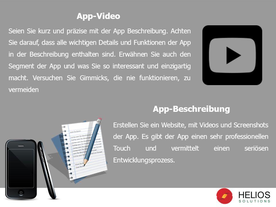 Seien Sie kurz und präzise mit der App Beschreibung.