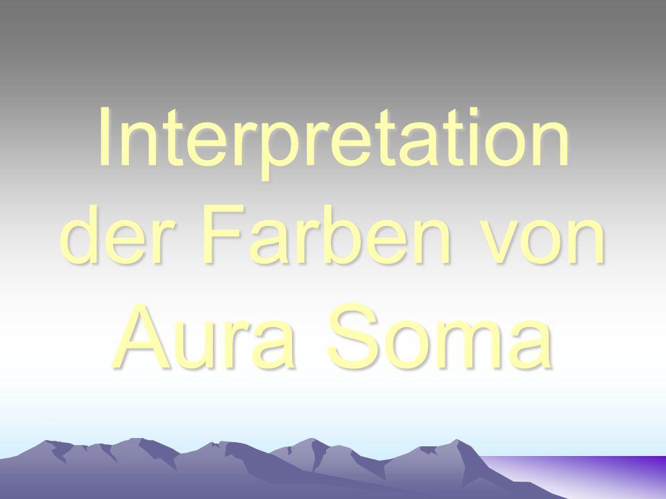 Interpretation der Farben von Aura Soma