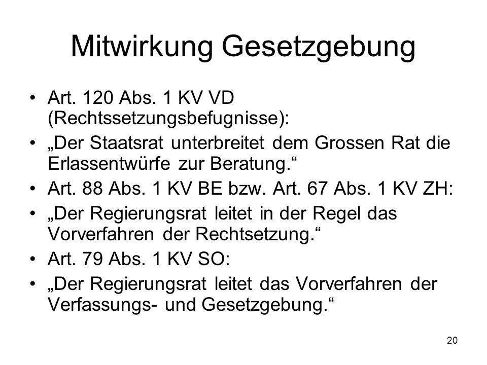 20 Mitwirkung Gesetzgebung Art. 120 Abs.
