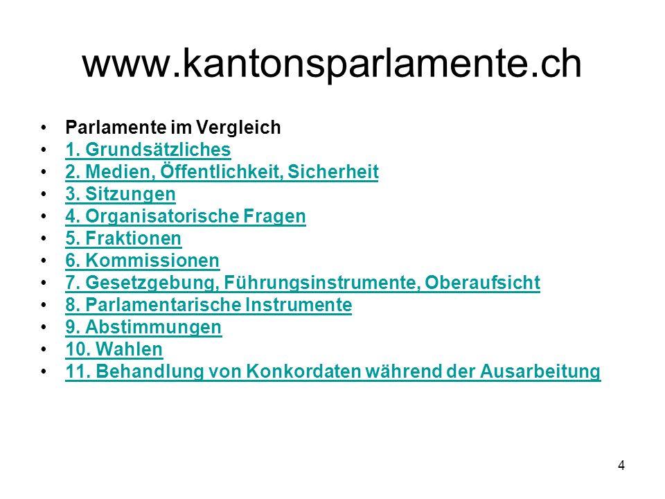 4 www.kantonsparlamente.ch Parlamente im Vergleich 1.