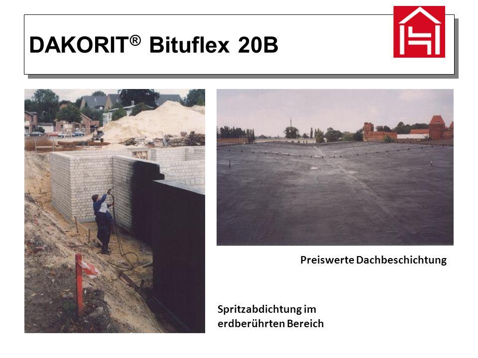 DAKORIT ® Bituflex 20B Preiswerte Dachbeschichtung Spritzabdichtung im erdberührten Bereich