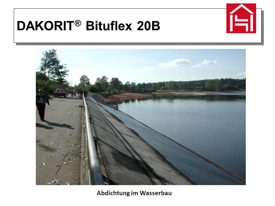 DAKORIT ® Bituflex 20B Abdichtung im Wasserbau