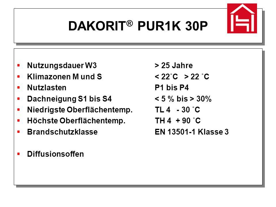 DAKORIT ® Bituflex 20B  Hoch elastisch, Reißdehnung > 550 %  UV- und alterungsbeständig  Wärme- und kältebeständig  Lösemittelfrei  1-komp., leicht verarbeitbar  Hoch elastisch, Reißdehnung > 550 %  UV- und alterungsbeständig  Wärme- und kältebeständig  Lösemittelfrei  1-komp., leicht verarbeitbar