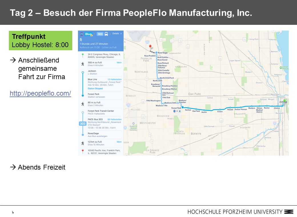 6 Tag 2 – Besuch der Firma PeopleFlo Manufacturing, Inc.