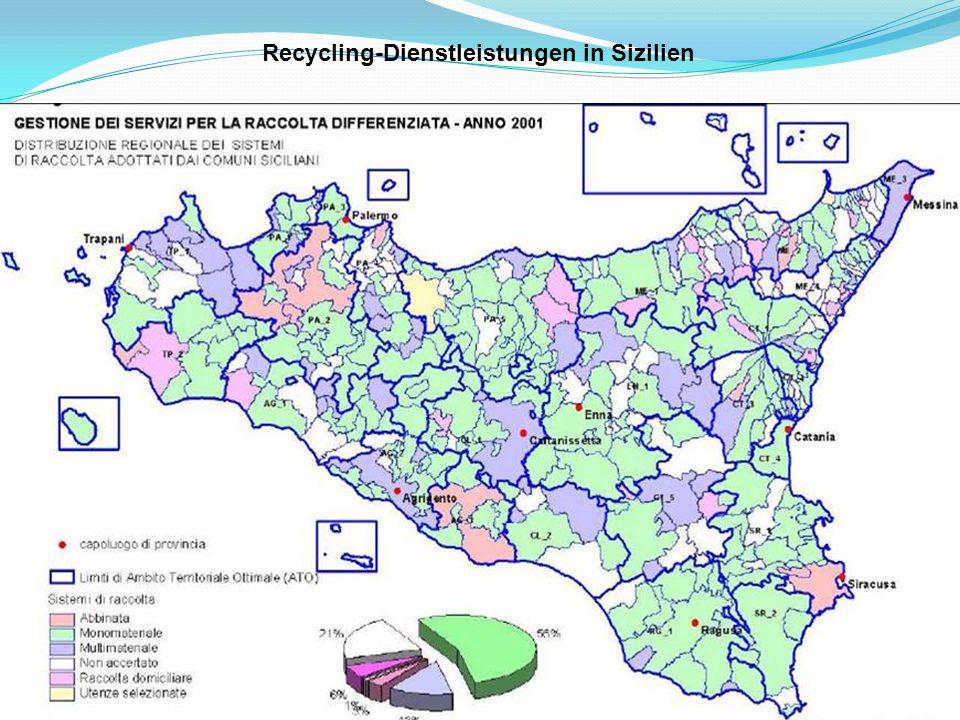 Recycling-Dienstleistungen in Sizilien