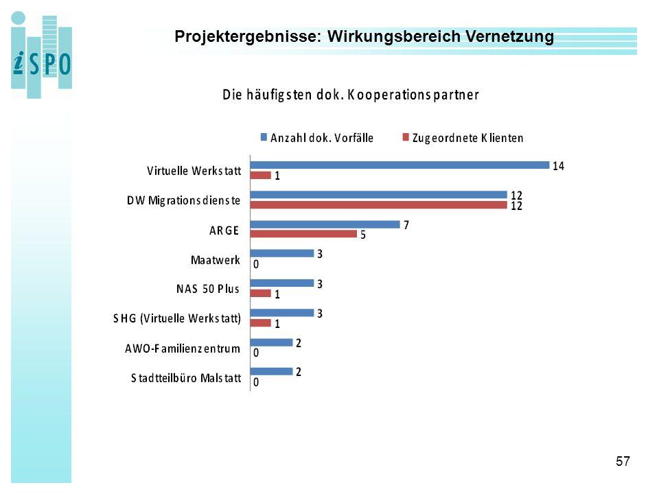 57 Projektergebnisse: Wirkungsbereich Vernetzung