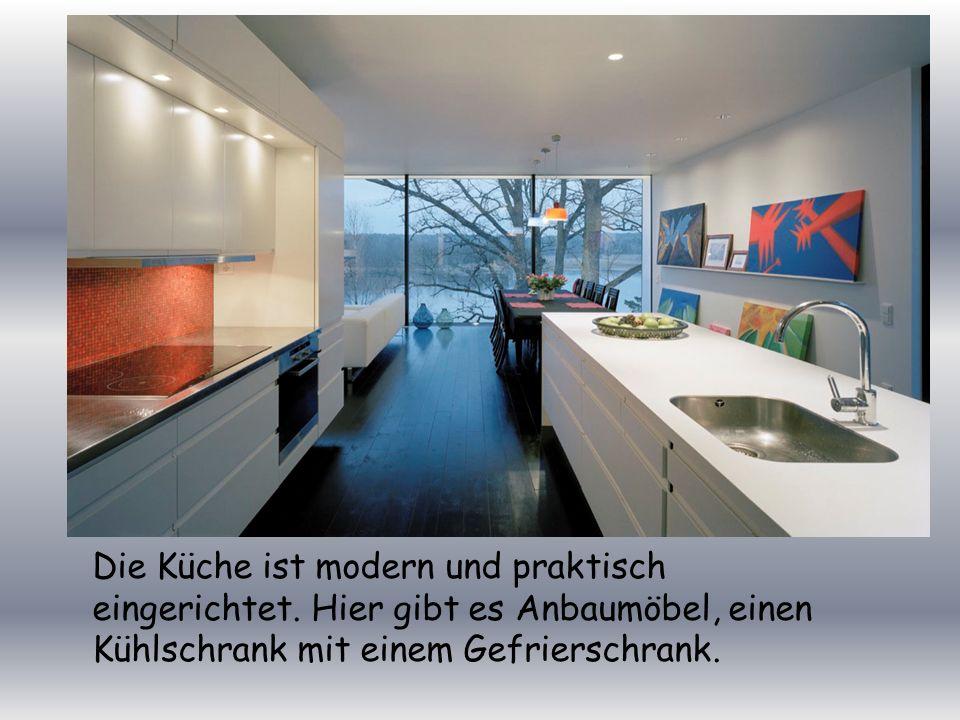 Die Küche ist modern und praktisch eingerichtet.