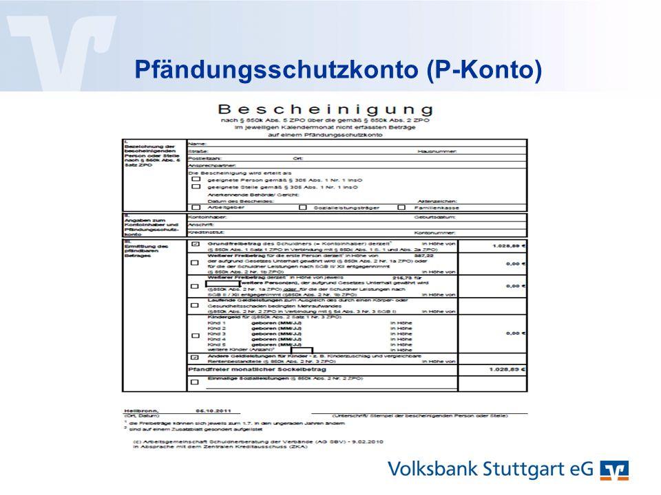 Pfändungsschutzkonto (P-Konto)