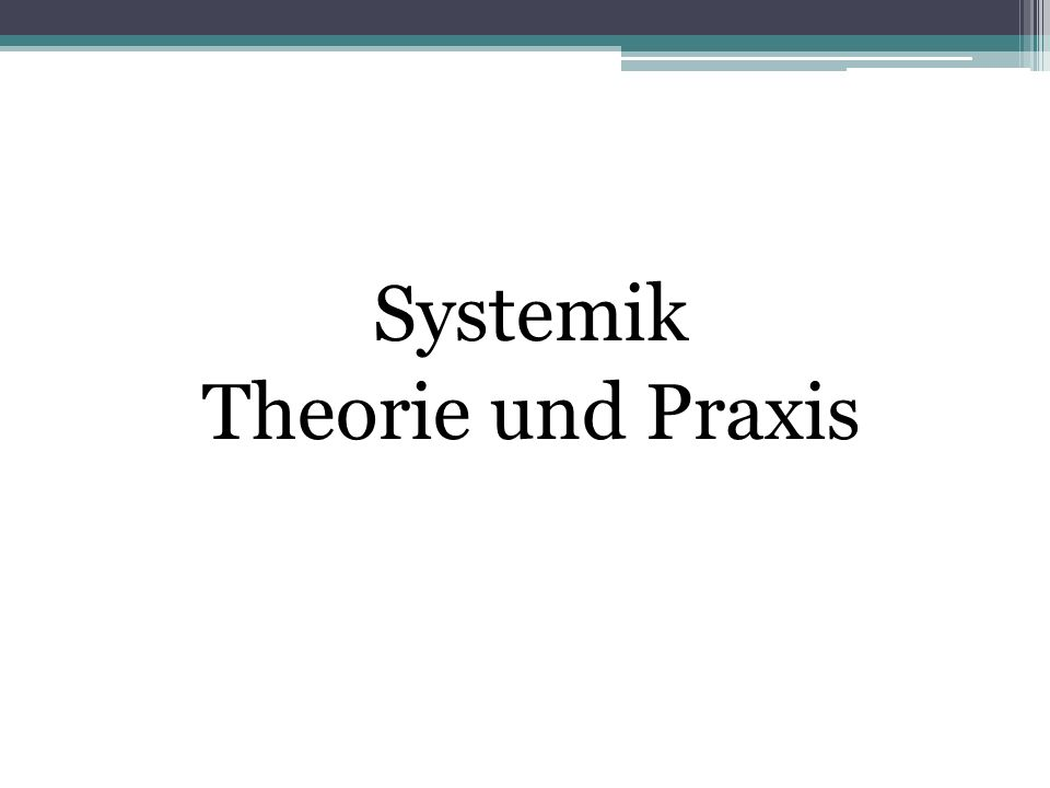 1. Theorie