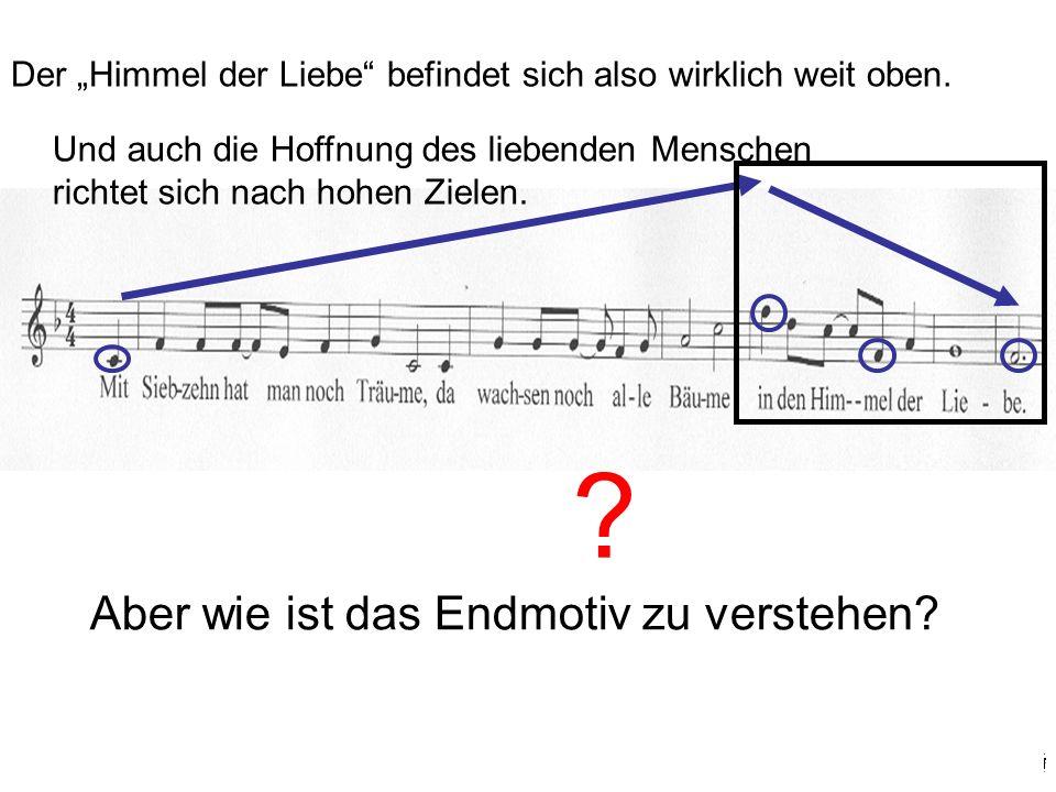 Warum gleitet die Melodie so schnell und so weit (eine ganze Oktave) nach unten.