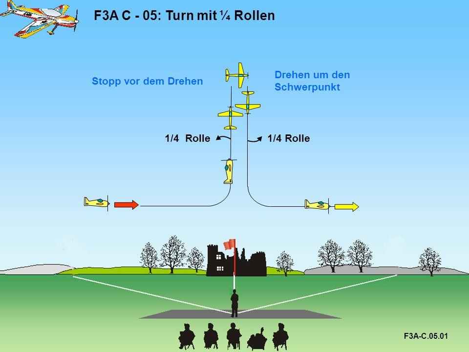 F3A C - 05: Turn mit ¼ Rollen F3A-C.05.01 1/4 Rolle Stopp vor dem Drehen Drehen um den Schwerpunkt