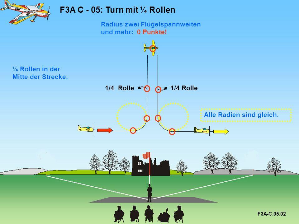 F3A C - 05: Turn mit ¼ Rollen F3A-C.05.02 1/4 Rolle ¼ Rollen in der Mitte der Strecke.
