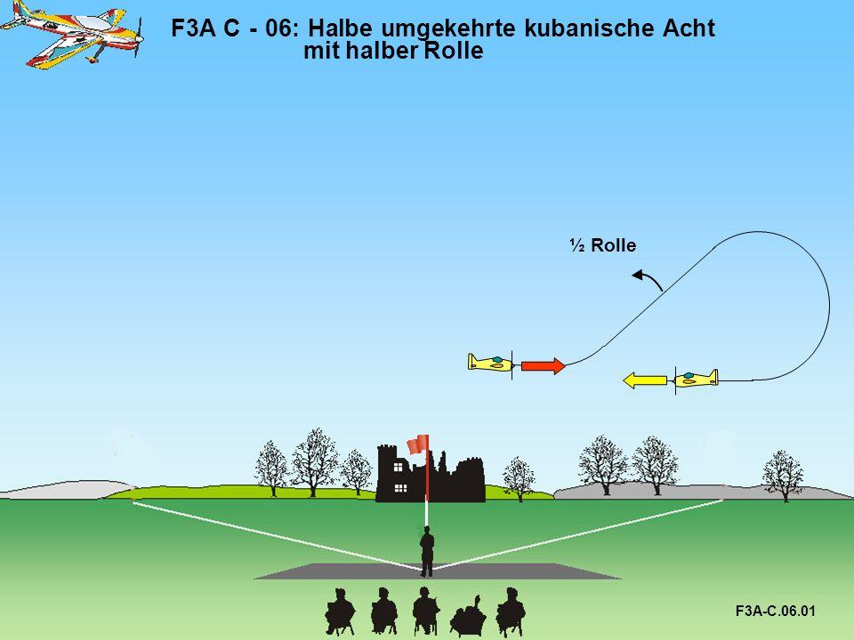 F3A C - 06: Halbe umgekehrte kubanische Acht mit halber Rolle F3A-C.06.01 ½ Rolle