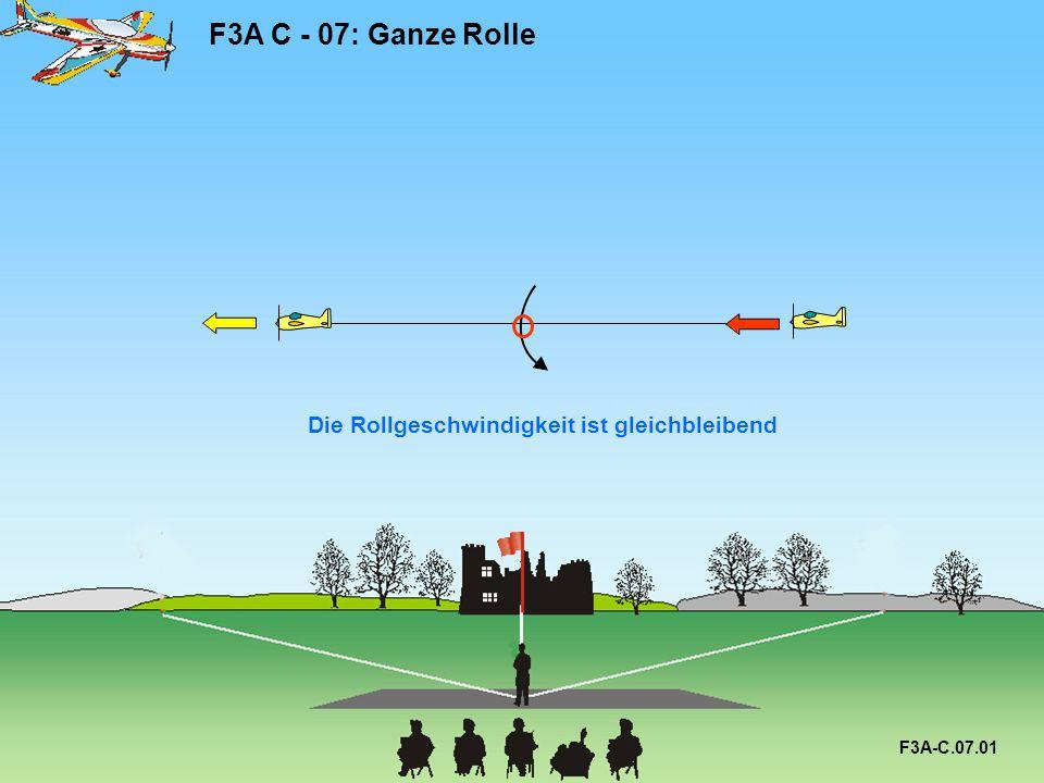 Die Rollgeschwindigkeit ist gleichbleibend F3A C - 07: Ganze Rolle F3A-C.07.01