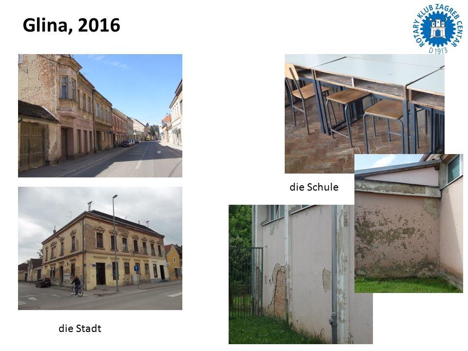 Glina, 2016 die Stadt die Schule