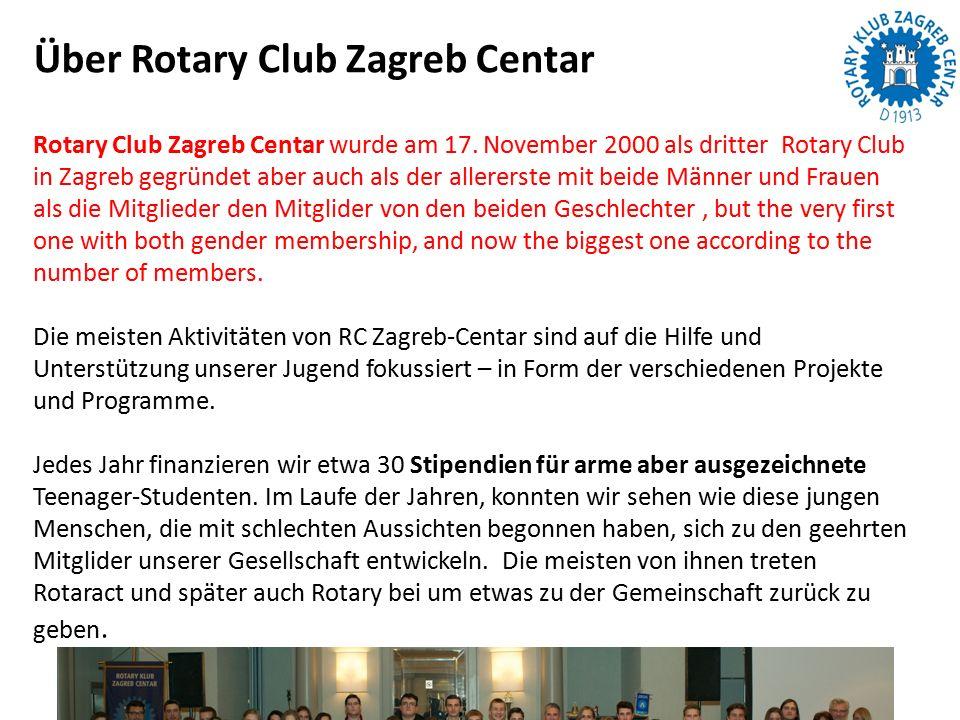 Rotary Club Zagreb Centar wurde am 17.