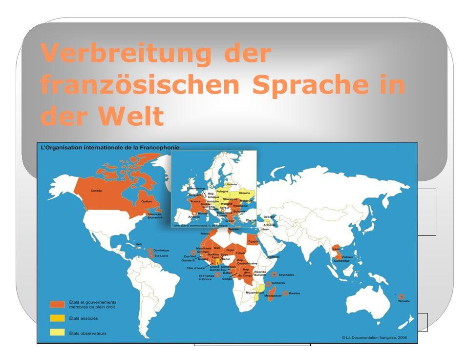 Formatvorlage des Untertitelmasters durch Klicken bearbeiten 3/8/09 Verbreitung der französischen Sprache in der Welt