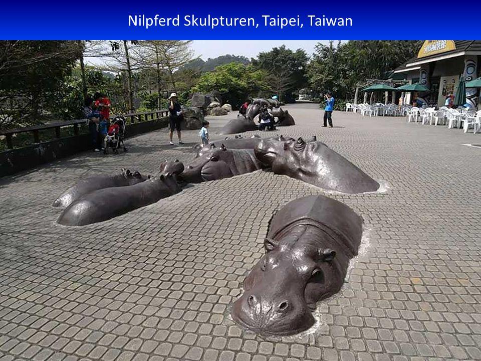 Nilpferd Skulpturen, Taipei, Taiwan