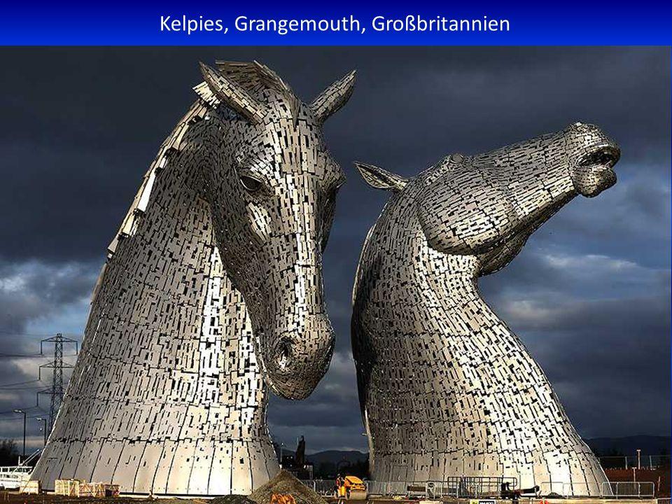 Kelpies, Grangemouth, Großbritannien