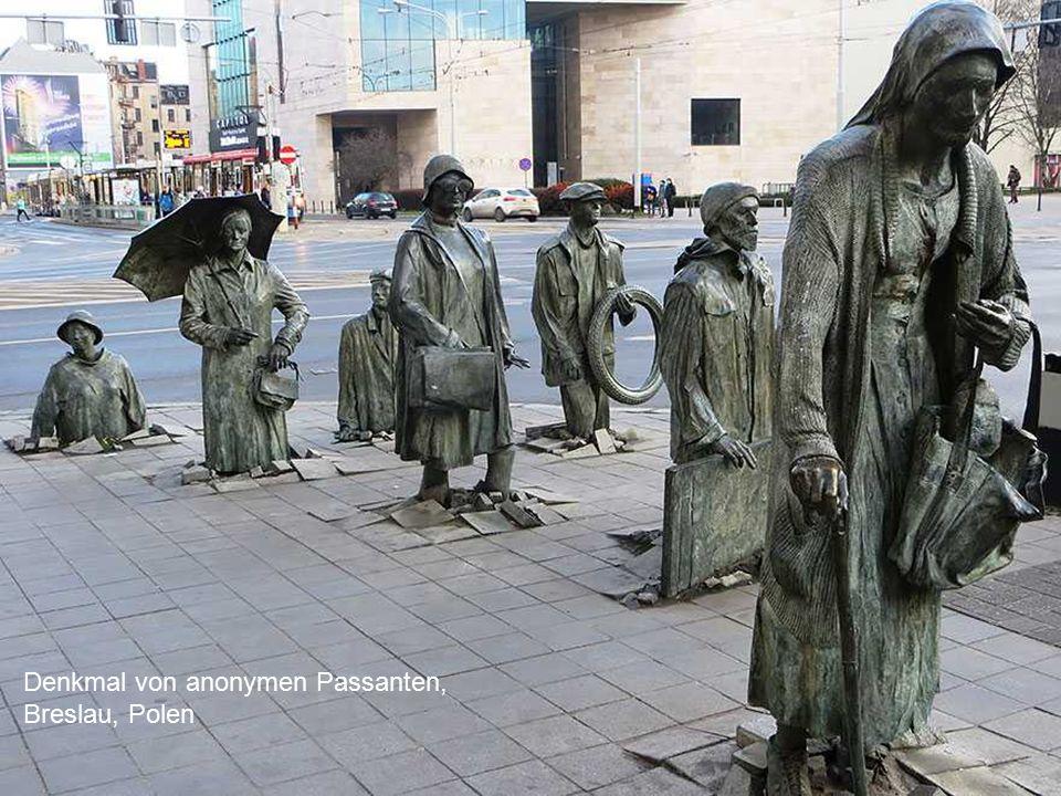 Denkmal von anonymen Passanten, Breslau, Polen