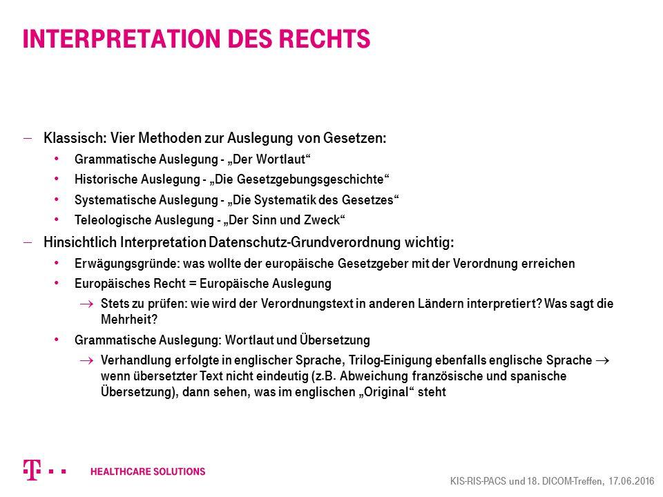 """Interpretation des Rechts  Klassisch: Vier Methoden zur Auslegung von Gesetzen: Grammatische Auslegung - """"Der Wortlaut"""" Historische Auslegung - """"Die"""
