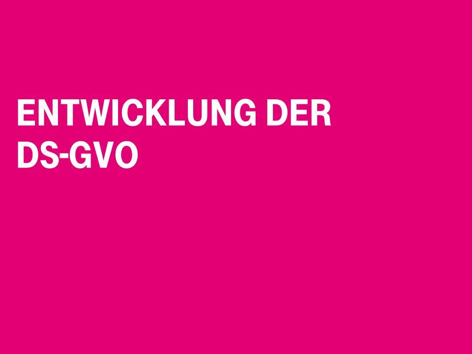 Entwicklung der DS-GVO