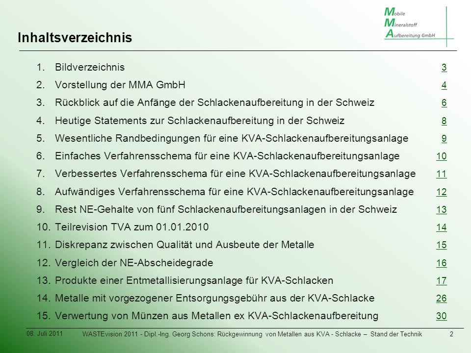 Inhaltsverzeichnis 1. 1.Bildverzeichnis 3 3 2. 2.Vorstellung der MMA GmbH 4 4 3.