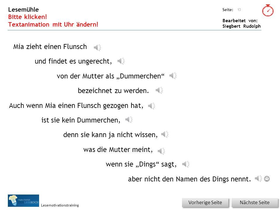 Übungsart: Seite: Bearbeitet von: Siegbert Rudolph Lesemotivationstraining Wörterschüttelautomat (Fantasiewörter) 12 FlunschFlanschFlaschFluschFulsch