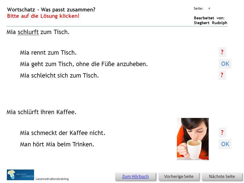 Übungsart: Seite: Bearbeitet von: Siegbert Rudolph Lesemotivationstraining 3 Wortschatz – Was passt zusammen.