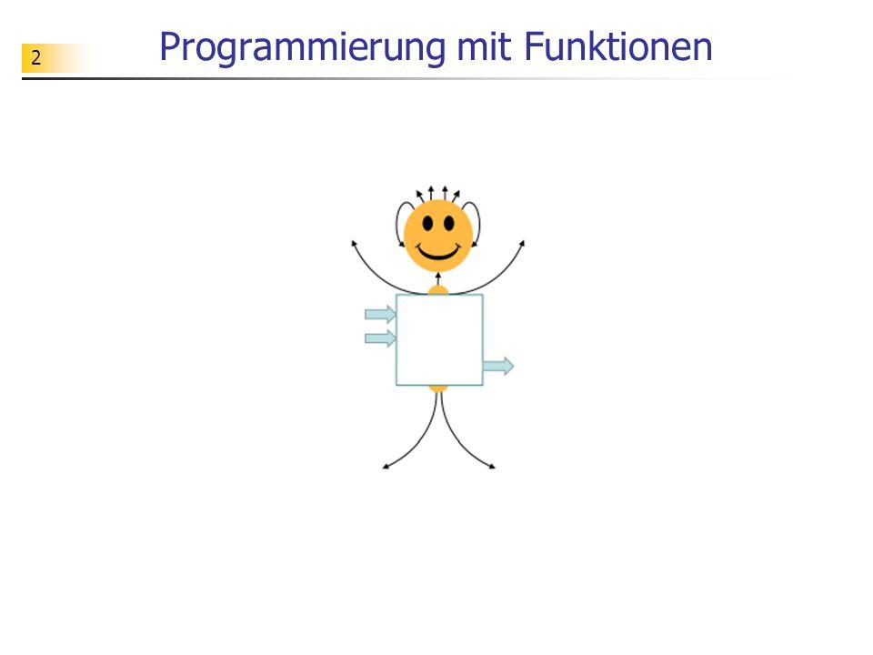 53 Funktionsvariablen Funktionsvariablen werden benutzt, um die Daten zu verwalten, die zur Verarbeitung an eine Funktion übergeben werden.
