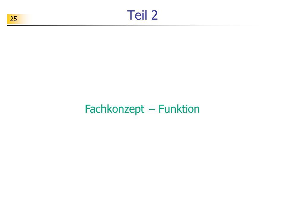 25 Teil 2 Fachkonzept – Funktion