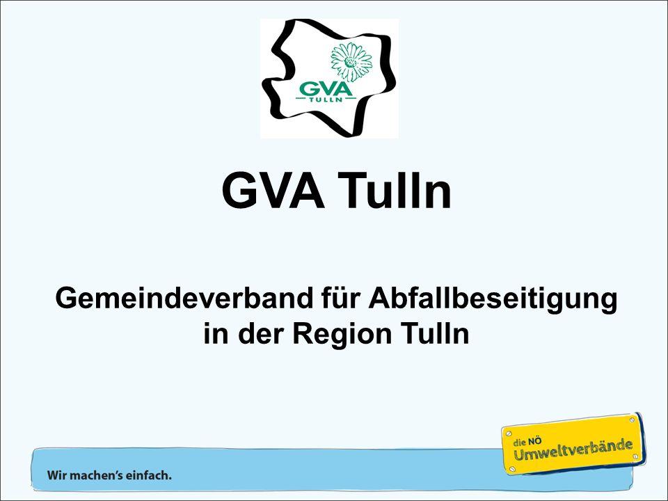 VerbandsobmannAmt des GVAVerbandsvorstand Verbandsversammlung = Versammlung aller Bürgermeister Organisation des GVA Tulln Obmann: LAbg.