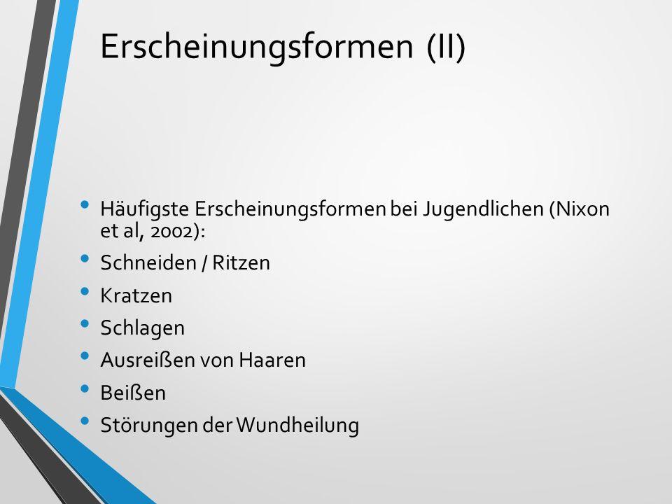 Lokalisation der häufigsten Erscheinungsformen (III).Unterarm / Handgelenk Oberarm / Ellbogen Unterschenkel / Knöchel Oberschenkel / Knie Hand / Finger Unterleib