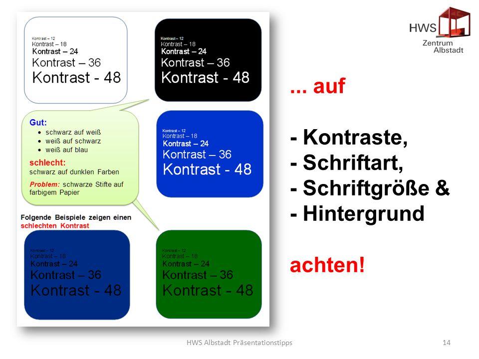 HWS Albstadt Präsentationstipps14...