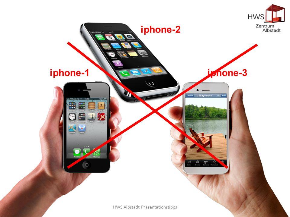 HWS Albstadt Präsentationstipps32 iphone-1 iphone-2 iphone-3