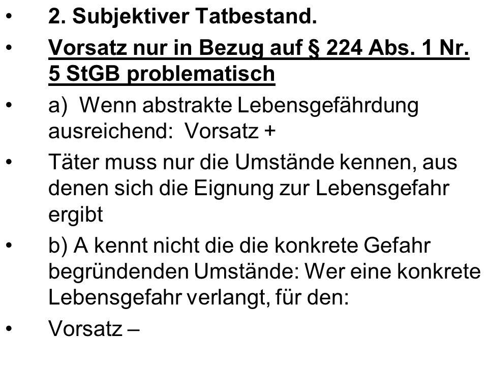 2.Subjektiver Tatbestand 3. Rechtswidrigkeit § 32 StGB, Notwehr.