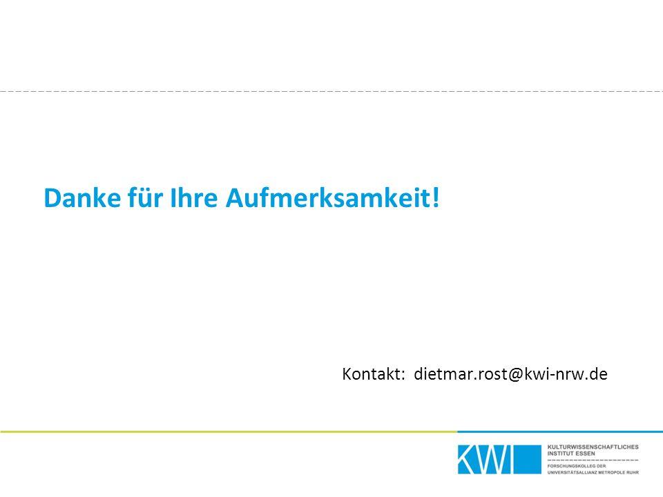 Danke für Ihre Aufmerksamkeit! Kontakt: dietmar.rost@kwi-nrw.de