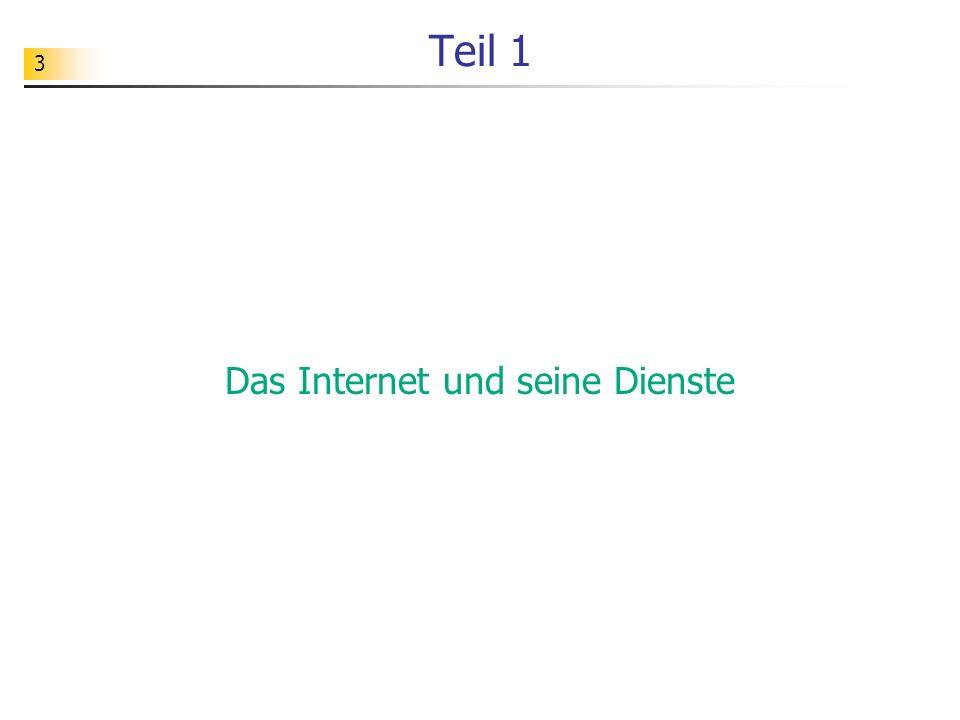 4 Themen für den Informatikunterricht Wie ist das Internet aufgebaut.