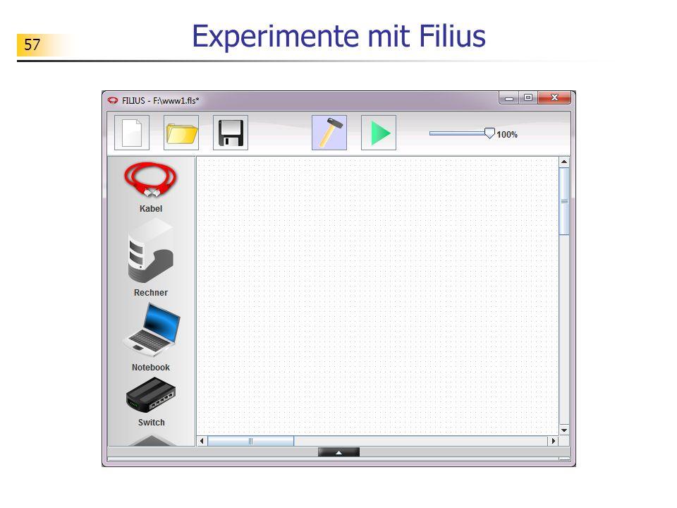 57 Experimente mit Filius