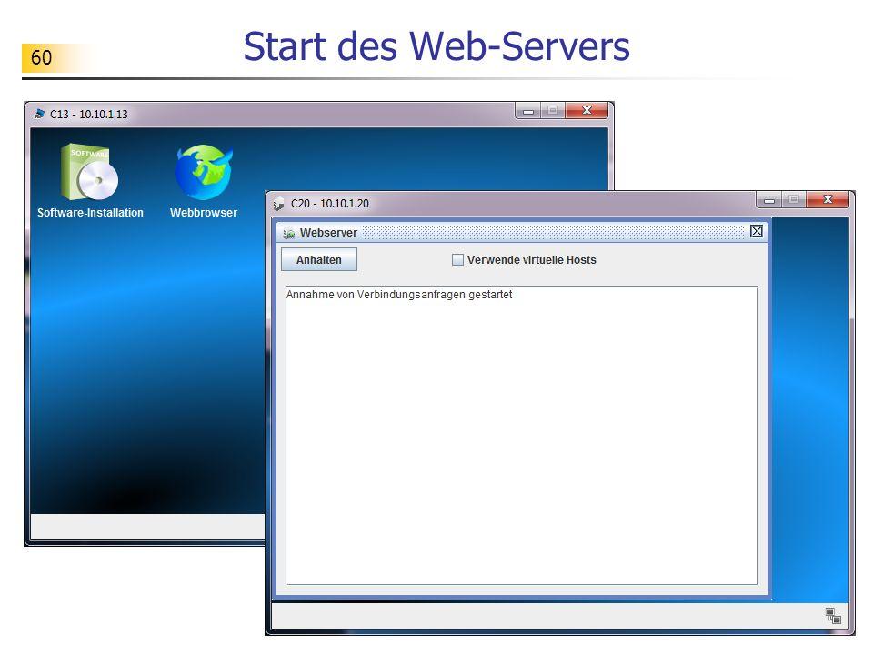 60 Start des Web-Servers
