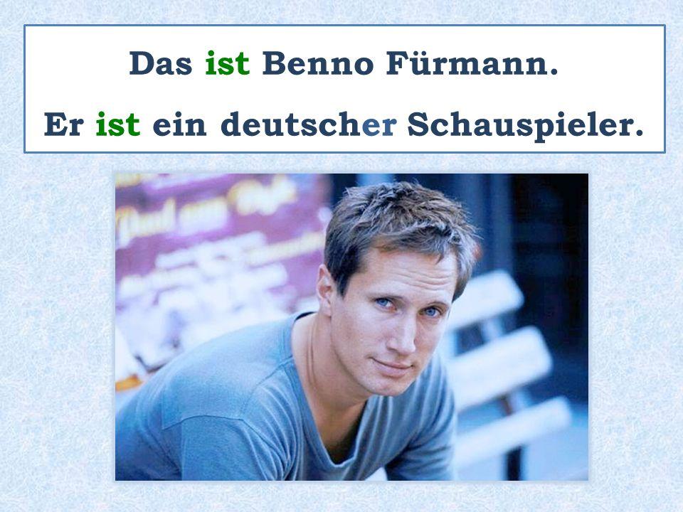 Das ist Benno Fürmann. Er ist ein deutscher Schauspieler.