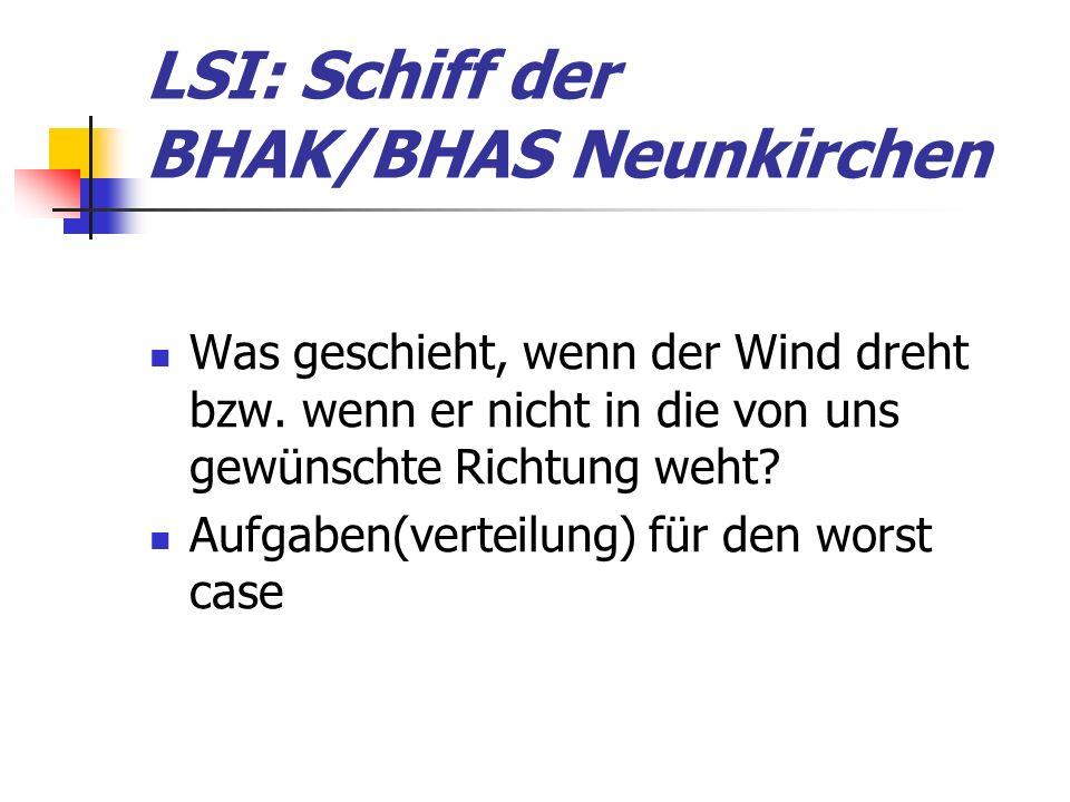 LSI: Schiff der BHAK/BHAS Neunkirchen Was geschieht, wenn der Wind dreht bzw.