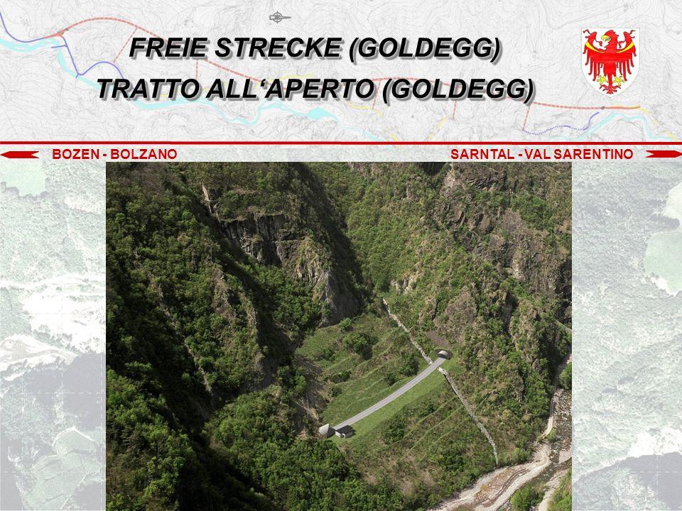 BOZEN - BOLZANOSARNTAL - VAL SARENTINO FREIE STRECKE (GOLDEGG) TRATTO ALL'APERTO (GOLDEGG)
