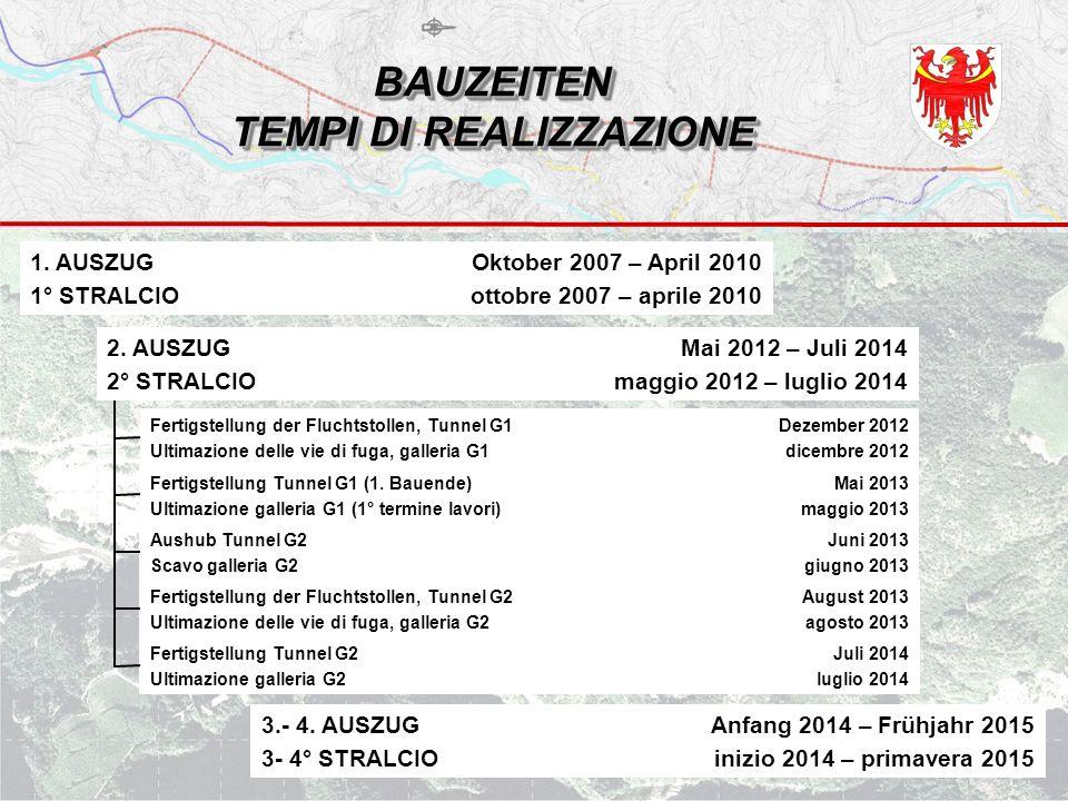BAUZEITEN TEMPI DI REALIZZAZIONE 1.