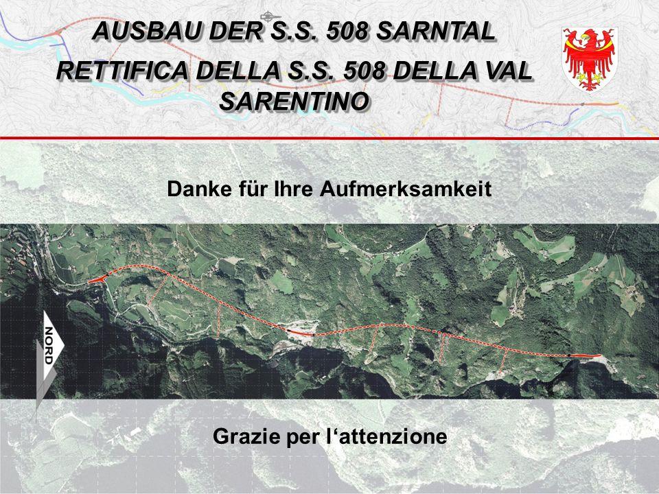AUSBAU DER S.S. 508 SARNTAL RETTIFICA DELLA S.S.